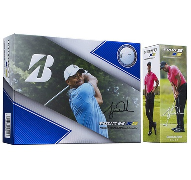 TimeForGolf - Bridgestone balls Tour B XS Limited Edition - Tiger Woods 4-plášťové 3ks